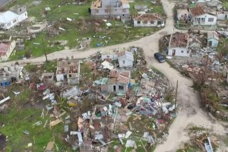 Almost all of Barbuda's buildings were destroyed by Hurricane Irma last September