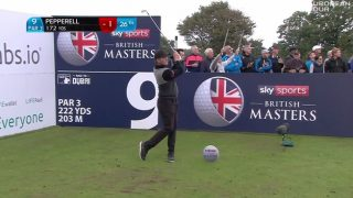 PEPPERELL BAGS 'BIZARRE' ACE EN ROUTE TO SHARING BRITISH MASTERS LEAD