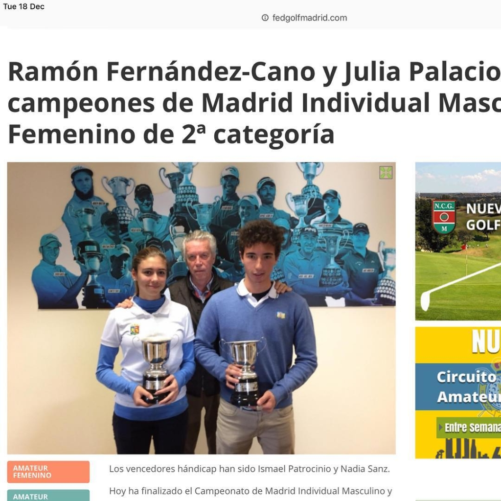 🇬🇧Congrats @ramontxofca1 winner of the Category 2 Championship of Madrid. Great job.