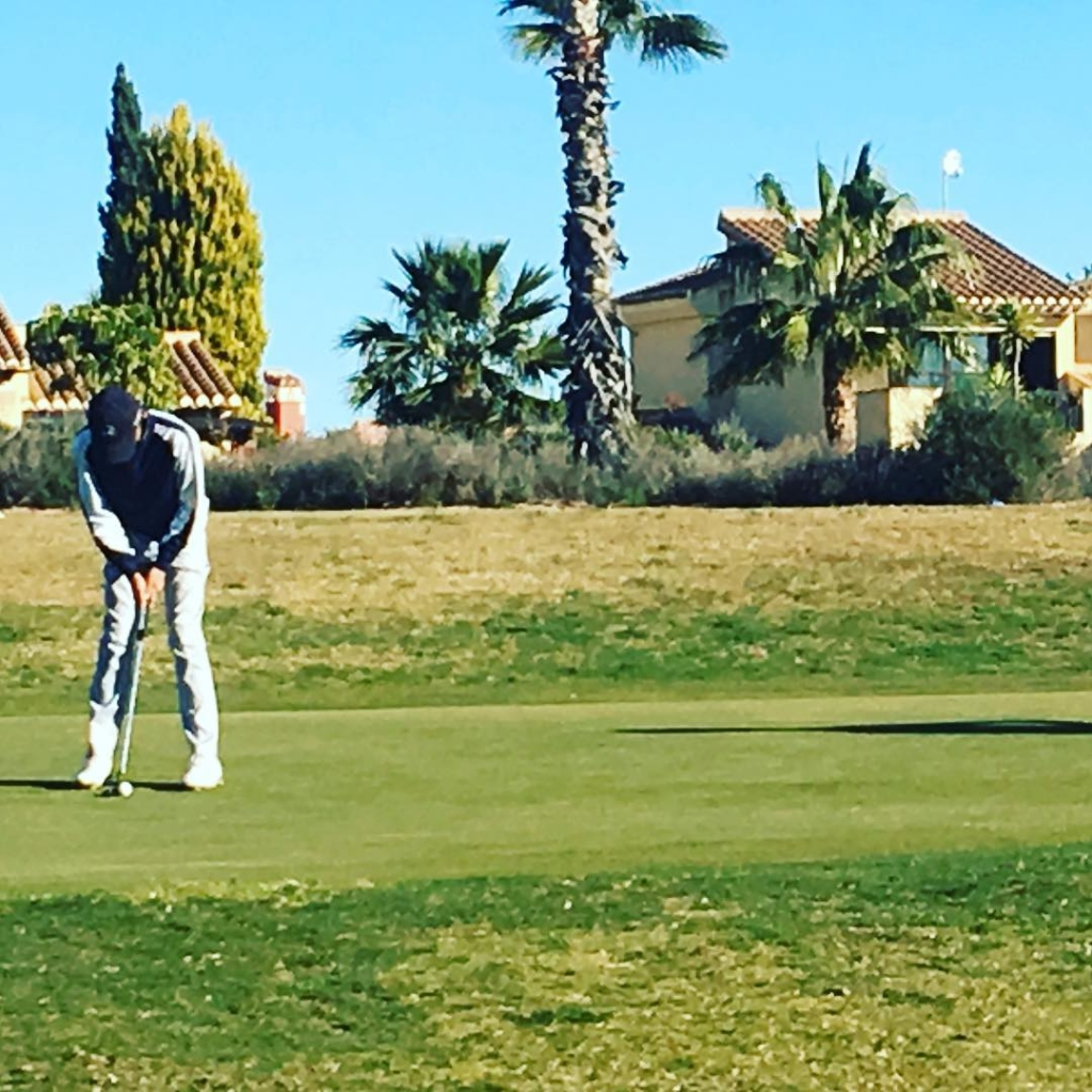 🇬🇧 Great golf day in Hacienda del Alamo (Murcia). Our Golfers are ready for data collecting