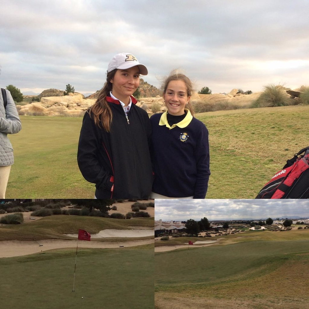 🇪🇸Día uno del Puntuable Nacional en El Valle Golf con las niñas. Estela del día @paulaa.martinn con 73 (+2) que incluido un 'hole in one' en el hoyo 12 y segunda posición ( primera infantil). A seguir luchando chicas!!. 🇬🇧First day of the Puntuable Nacional, the first national ranking tournament of the year. Best placed so far is @paulaa.martinn with 73(+2), which included a hole in one at the 12th and second place overall (1st Under 14). Keep fighting tomorrow girls!.