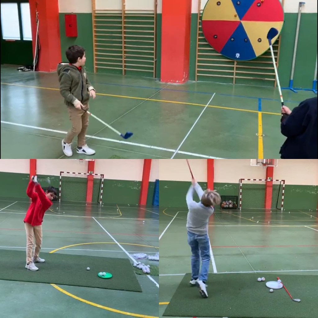 🇬🇧It's cold outside so @jmlopez3 and @alejandritoras conducted a great session for the Mini Junior Performance Plan in school sports hall in the village. Good stuff guys!. 🇪🇸Hace much frío así que @jmlopez3 y @alejandritoras realizaron una gran clase del Mini Junior Performance Plan utilizando el pabellón de un colegio en el pueblo. Gran trabajo chicos