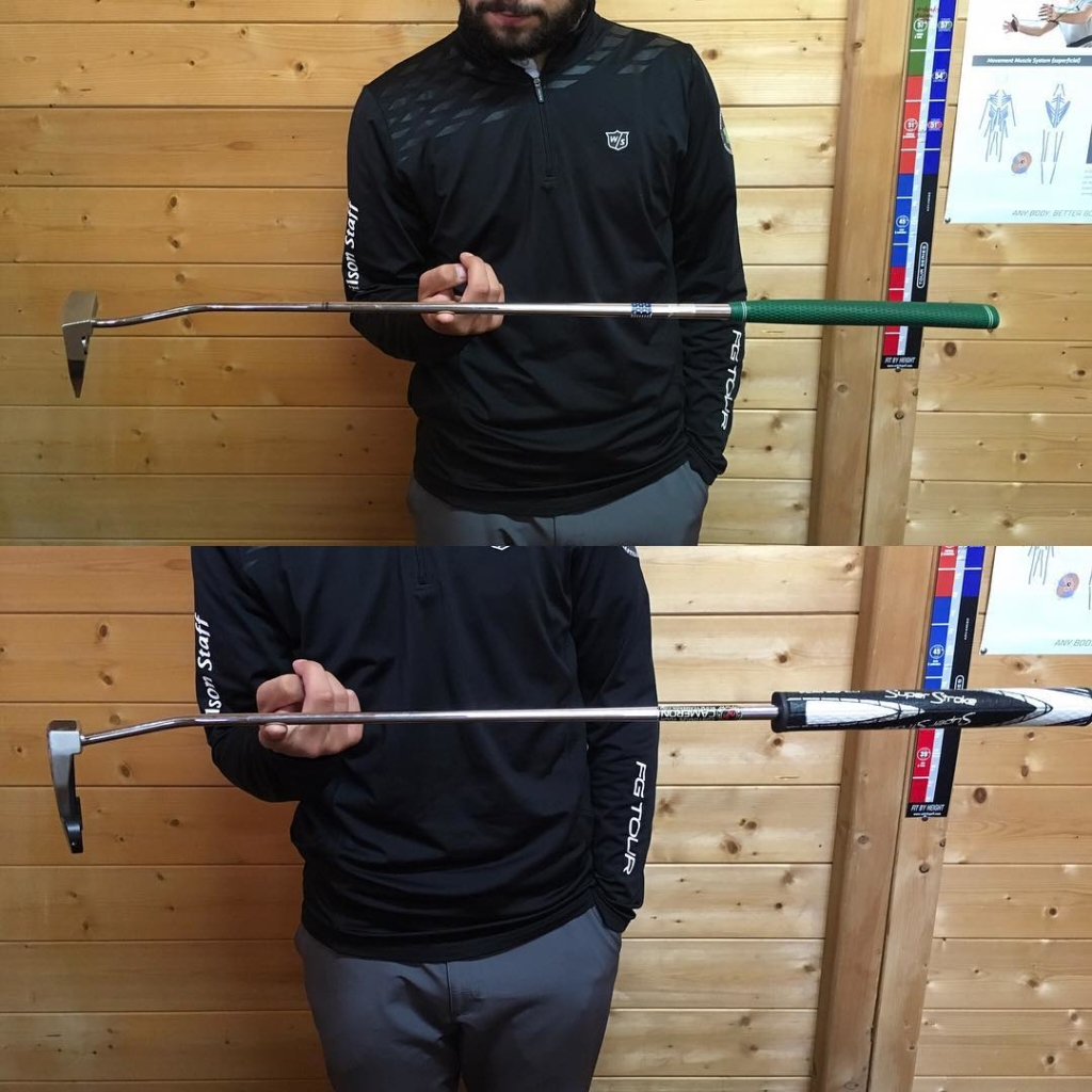 🇬🇧Lots of players think that by adding more weight in the head of the putter will make the stroke more connected, if this isn't done with a 'counter weight' in the top of the club this will lower the 'balance point' of the putter making the stroke less stable and potentially creating problems with stoke release patterns. If you want a more stable stroke, with more control, you should be looking to add weight to the upper shaft or under the grip. 🇪🇸Muchos jugadores piensan que con más peso en la cabeza del putter el swing estará más estable y conectado. Si lo haces sin meter un 'counter weight' en la última parte del putter el punto de equilibrio del putter se moverá más cerca a la cabeza del putter, el swing estará menos estable y con problemas potenciales con la suelta del putter. Si buscas un swing más estable hay que pensar de meter más peso en la última parte de la varilla o en el grip