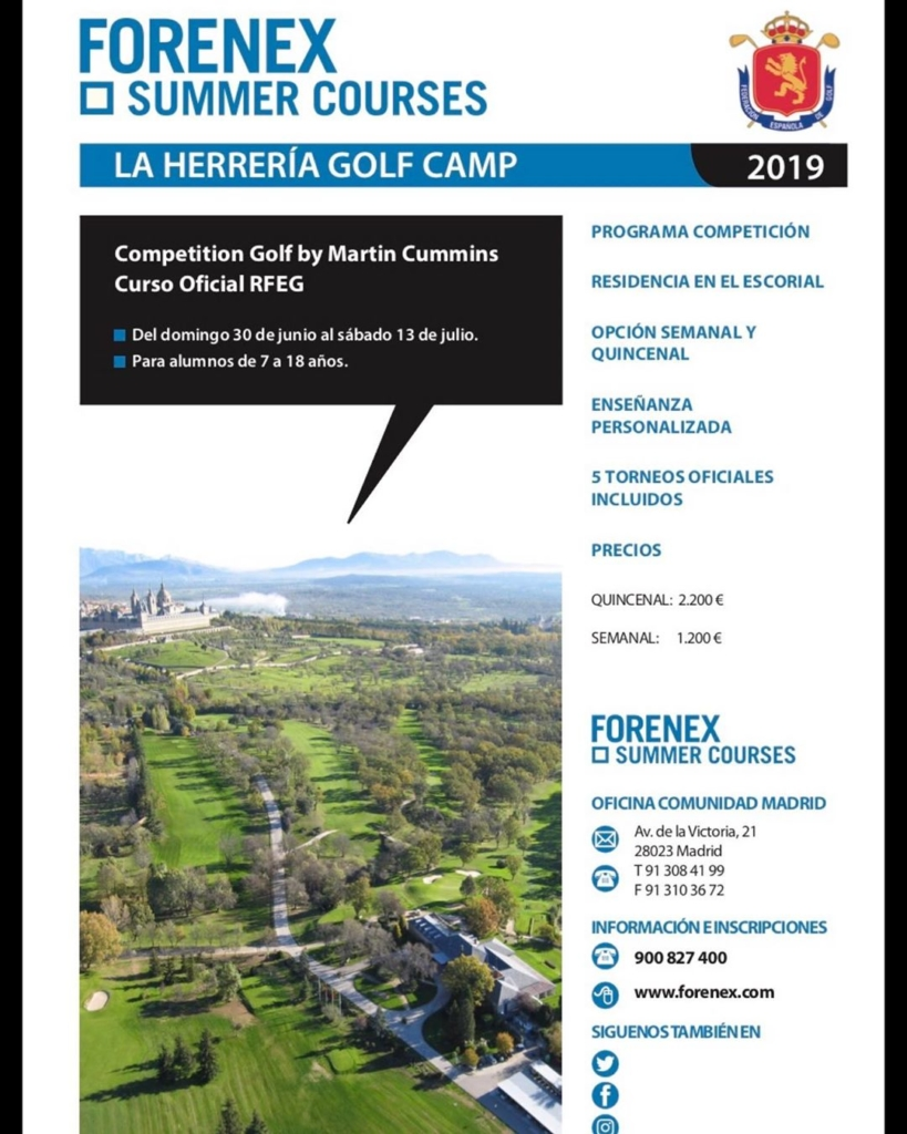 🇪🇸Aún quedan unas plazas aquí en La Herrería. El campamento incluye cinco días de torneos entre ellos el torneo de IMG en Retamares. 🇬🇧Come over and experience a Spanish summer camp, a few places are still available. The summer camp includes 5 days of competition among them the IMG Junior Tournament here in Madrid