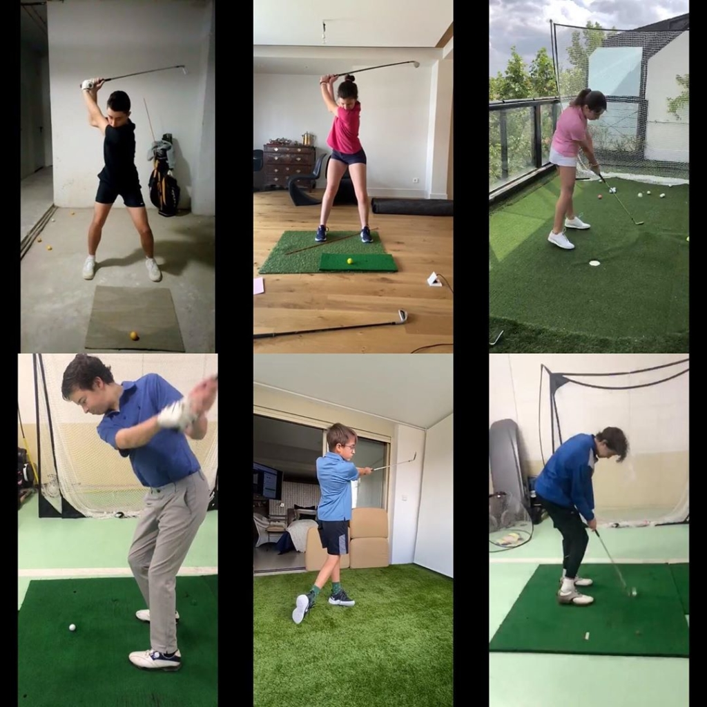 🇪🇸MCGP Online Junior Performance Training trabajando ayer, toda la mañana, del juego largo (50 bolas), 25 bolas, vuelos y pitching 25-70m. Cada semana el formato se normaliza más y aprovechamos el tiempo juntos mejor. Formación online ha sido la sorpresa del lockdown. Vamos a seguir con sesiones así cuando salgamos. 🇬🇧Yesterday's four hour morning session MCGP Online Junior Performance Training. Working on long game (50 ball exercise), 25 Ball Exercise, ball flights and pitching from 25-70m. Each week we refine the process and we take better advantage of the time that we are together. It has been the surprise of the lockdown. We will continue with sessions like this when we are finally allowed back to the course