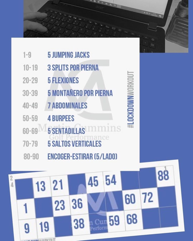 🇪🇸Mucha creatividad y diversión por la parte de @juanlopezdelhierro13 en la classes de preparación física online de los MCGP Junior Performance Plan. El juego de 'Bingo', el ganador no tiene realizar ningún ejercicio, lo demás tiene un ejercicio que coincide con los números que quedan. ¡¡Espero no te queden muchos!!. 🇬🇧Lots of creativity and fun from @juanlopezdelhierro13 in the online physical training classes of the MCGP Junior Performance Plans. The 'Bingo' game, the winner doesn't have to go any exercise, but the rest have to do all the exercises that coincide with the numbers that remain on their card. Hope that no too many are left for you